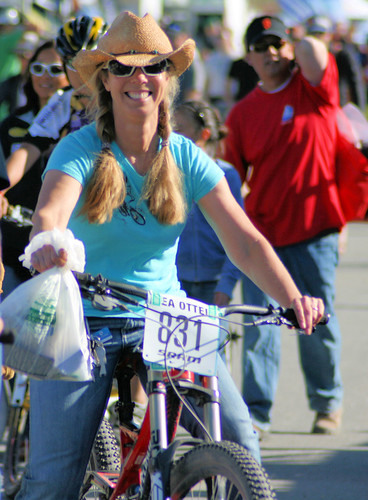 Cowgirl on a bicycle @ Sea Otter 2011