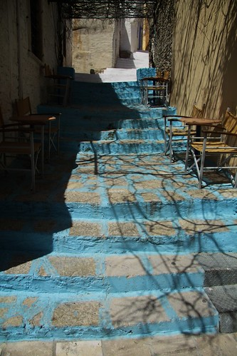 Coloured steps, Symi