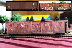 BNSF to ATSF Convert (A & P Bench) Tags: road scale train graffiti model rail weathered ho custom railfan freight moter railroading trede