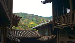"""Nuodeng 诺邓 HDR: multilayered courtyards (avezink) Tags: old trip travel countryside wooden ancient village rustic courtyard roofs tiles april 中国 yunnan hillside 旅游 slope province taijitu yunlong 白族 云南省 太极图 """"bai nuodeng 云龙县 诺邓 minority"""" gettychinaq2 fivedropcourtyard"""
