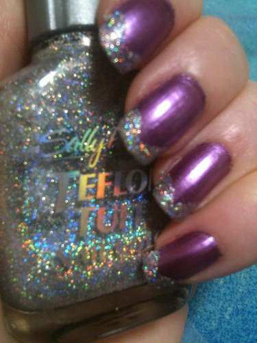 Purple Chrome Mani with Holographic Tips by KitaRei