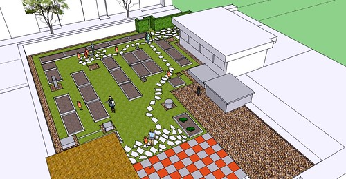 rendering of the new rooftop garden (by: Bread for the City via DCentric)