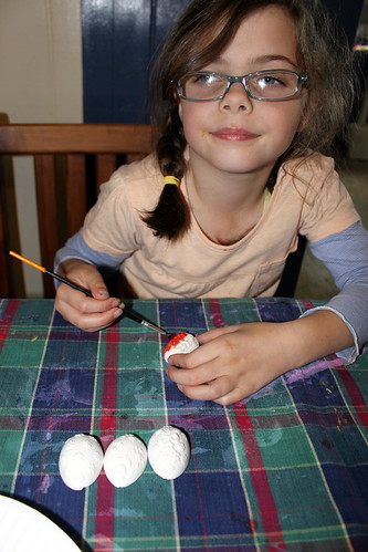 Ellamay painting eggs
