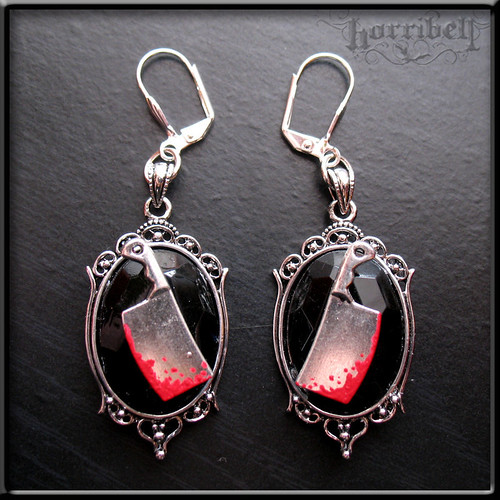 Bloody Cleaver Earrings