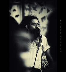 Zaid Bhai ( delta_mizan ) Tags: boy portrait bw glass contrast beard artist photographer pentax patterns du portraiture dhaka tone bangladesh k7