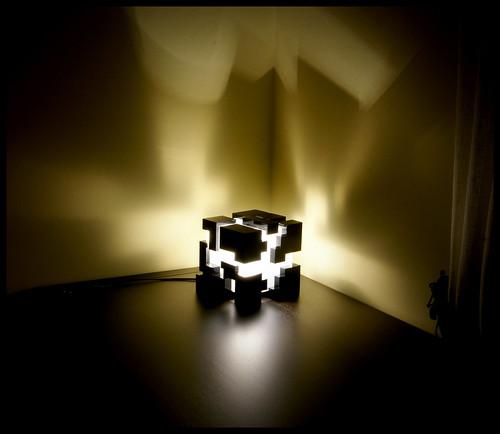 Laser cut Cube lamp