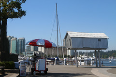 Wonky building (Helen M Evans) Tags: canada vancouver waterfront harbour britishcolumbia coalharbor