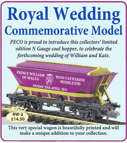 Royal Wedding Model Train