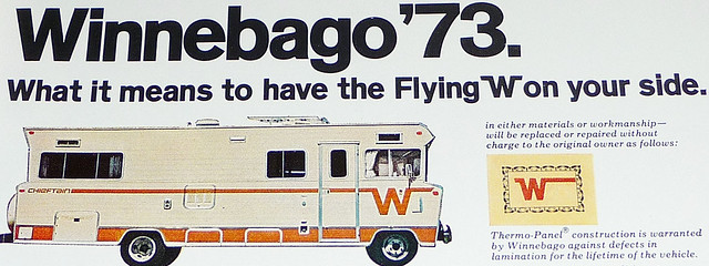 magazine advertisement 1972 winnebago nationalgeographic chieftain thermopanel