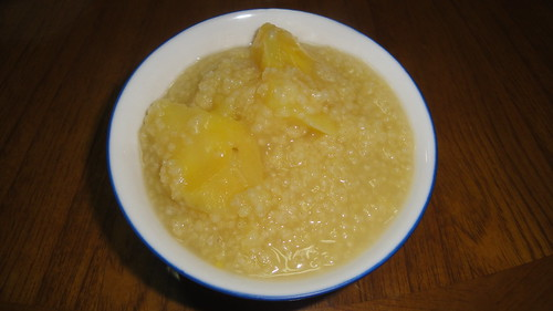 Sweet potato and millet porridge 地瓜小米粥