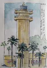 Faro Marbella - Raúl León (Bichobolas) Tags: fountainpen pluma sailor watercolors sketchers winsornewton hahnemühle kiwaguro bijoubox raulleon