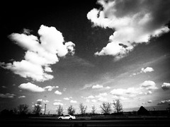 Moving on without you (liver1223) Tags: street city blue 2 sky blackandwhite bw cloud toronto canada car speed photo interesting highway shot snap explore gr ricoh grd interesingness explored blackwhitephotos grdigital2 mygearandme artistoftheyearlevel3 artistoftheyearlevel4
