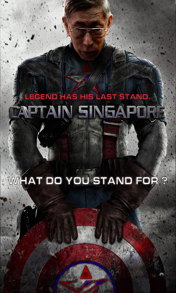 """Chiam See Tong as """"Captain Singapore"""""""
