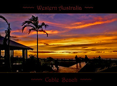 Cable Beach Sunset (a777thunder (Thanks for your support)) Tags: sunset reflection australia palmtree westernaustralia broome cablebeach
