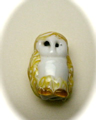 Guardian 1 Owl Bead (SimplP) Tags: art glass barn torch owl bead lampwork pendant flamework hotglass torchwork softglass