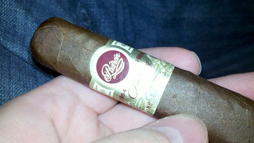 Met up with Jason to have another cigar. Padrón Anniversary 1964