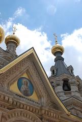 Russian Orthodox Monastery of St Mary Magdalene - Mount of Olives - Jerusalem (jrozwado) Tags: church israel asia jerusalem monastery cupola dome russian mountofolives mountolivet orhtodox