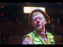He's an Angry Clown! (Reg Photography4Lyfe) Tags: boy man west guy slr virginia minolta circus sony clown charleston beercan westvirginia dslr boi 70210mm 2011 a700 dslra700 sonydslra700