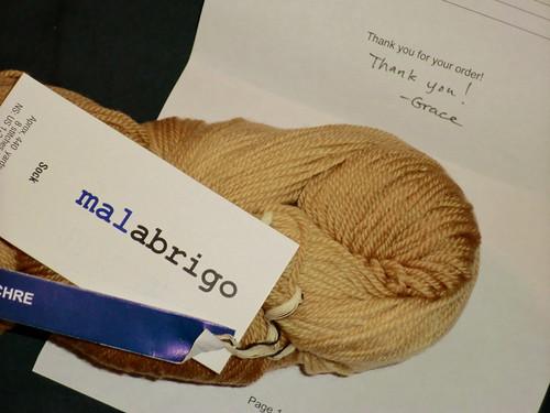 Malabrigo sock - ochre