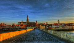 Regensburg Evening view from the Stone Bridge to the Old City (1982Chris911 (Thank you 5.500.000 Times)) Tags: bridge church stone canon high exposure dynamic cathedral roman dom gothic medieval christian 5d regensburg range dri 1740mm hdr highdynamicrange hdri canoneos5d photomatix lglass canonphotography f40l canonllens hdrphotography hdrpictures canoneos5dmarkii canon5dmkii 5dmarkii canon5dmark2 5dmark2 canon5dmarkii eos5dmarkii krieglsteiner 1982chris911 christiankrieglsteiner 192chris911 christiankrieglsteinerphotography