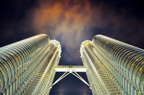 フリー写真素材, 建築・建造物, 高層ビル, マレーシア, ペトロナスツインタワー,