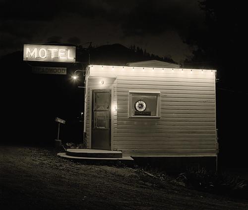 Steve Fitch, Motel, Highway 85, Deadwood, South Dakota, 1972