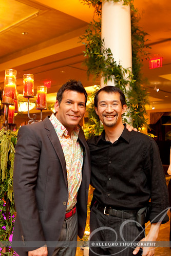david-tutera-my-fair-wedding-behind-the-scenes- david lee of allegro photography with david tutera of my fair wedding at the end of the night