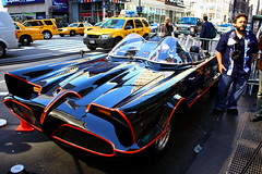 Batmobile in NY (Oscar von Bonsdorff) Tags: pictures newyorkcity usa newyork canon studio unitedstates photos pics manhattan famous kitlens tourist pro northamerica info batmobile madisonsquaregarden interview information photographing xsi canon1855 thebigapple  canon1855mm batmobil batmvel  1855lens 450d canon1855is worldcars  canonefs1855mmf3556is october2011 oscarvonbonsdorff gettyimagesfinlandq2   amazingcarny batmobileinnorthamerica batmobilein2010 batmobileonmanhattan batmobileinnewyork batmobileatmadison batmobileintv batmobileowner batmobileinny