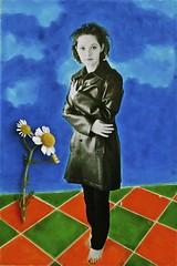 Patty et les fleurs blanches (Rol6) Tags: montage photocolorisée repro tdp
