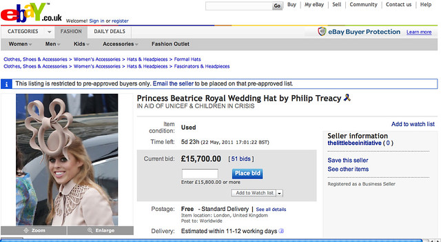 princess beatrice auction