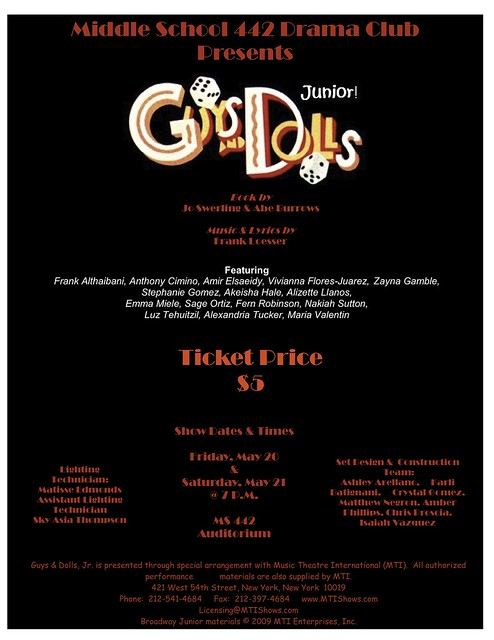 guys and dolls poster small