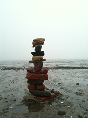 Stack (Area Bridges) Tags: morning brick beach rock rocks connecticut bricks may overcast stack milford stacking stacked 3gs iphone 2011 seabrick beachbrick may2011 seabricks may192011 beachbricks