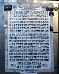 FDNY 9/11 Poster, World Trade Center, Manhattan, New York City (jag9889) Tags: county street city nyc ny newyork building station wall architecture truck poster liberty fire photo memorial ultimate 10 manhattan district worldtradecenter 911 engine company batterypark photographs fallen borough wtc ladder lower firehouse financial fdny ladder10 department firefighters members sacrifice seagrave 343 bravest 9112001 91101 10048 engine10 tenhouse zip10048 e010