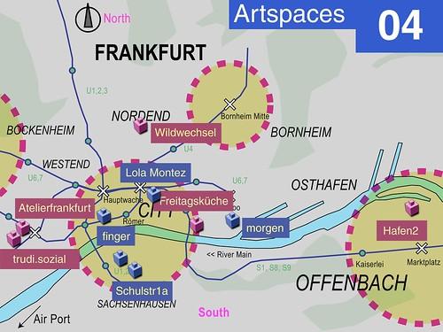 Karte Frankfurter Offspaces 2005