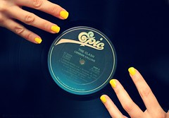 144 | 365 (elle.hanley) Tags: portrait yellow self hands album record 365 nailpolish londoncalling theclash selfie project365 vivadeva