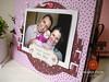 Capa de Álbum (mariafloratelier2) Tags: baby scrapbook bebê scrap presente marromcomrosa