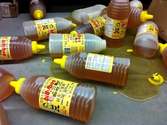 Clean-up in aisle 7! (Roger Cullman) Tags: toronto mess sticky bee honey oops grocery spill groceries billybee iphone