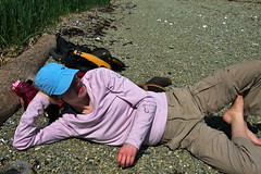 Amy on Lincoln Island (The Cabin On The Road) Tags: summer alaska kayak kayaking seakayak seakayaking