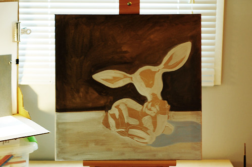 080 - deer painting