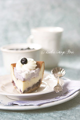 Viennese cheesecake with blueberry marshmallow cream (csokiparany) Tags: summer cakes canon dessert cheesecake blueberry marshmallow mascarpone viennese foodphotography bakes indigoblue blueberrycheesecake foodography curdcheese canon450d