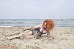 Klarika-7354 (Cristian Photocuba) Tags: red beach model mare spiaggia sabbia klarika sottoveste photocuba