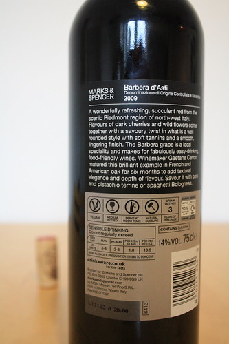 Marks & Spencer Vegan Wine