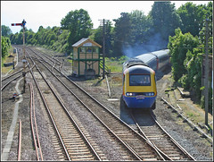 EMT off the branch - Wymondham (SP Rail) Tags: uk train box railway trains class line east british signal railways emt 43 midlands 125 wymondham hst mnr tsbg