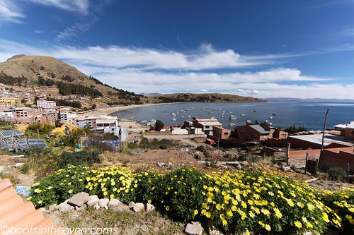 Lake Titicaca from our room