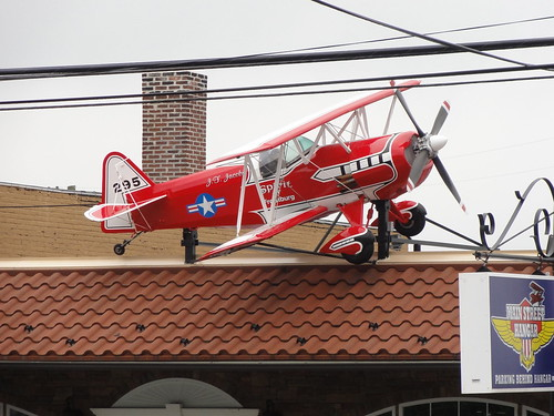 Plane on the roof