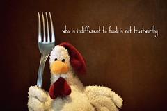 ... (Giulia van Pelt) Tags: food chicken toy is al who fork plush chi di pollo non forchetta cibo  peluche pezza indifferent trustworthy giocattolo fiducia indifferente degno