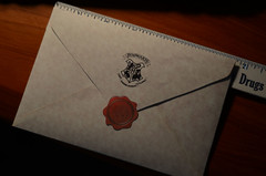 Back of Hermione's acceptance letter (groundpig.geo) Tags: school 2 two phoenix stone fire one 1 blood order witch wizard harry potter prince replica part half chamber letter hogwarts bard secrets prop hagrid halfblood hallows acceptance goblet philosophers sorcerers deathly beedle