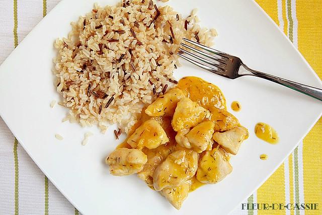 курица в цитрусовом соусе