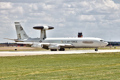 US AWACS at Mildenhall (Philip Dalglish Photography) Tags: us suffolk united american states boeing airforce usaf runway airbase awacs rafmildenhall e3b 0351 flightglobal