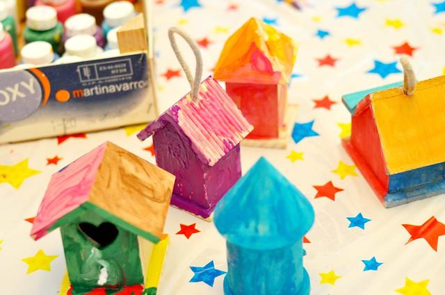 birthday birdhouses.